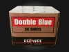 RedWire 36 shots F2 cakebox with blue mines and peonies. Order online at Xena Vuurwerk - professional fireworks supplier from Holland