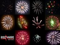Range of 3 inch shells, available at Xena Vuurwerk from Holland - RedWire professional fireworks supplier