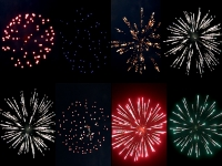 Assortment of 2,5inch shells of Red Wire Fireworks, distributed by Xena Vuurwerk - Holland