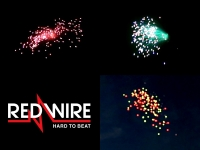 Red Wire 3inch fireworks shells with 3 different falling leaves effects. Available at Xena Vuurwerk BV - The Netherlands