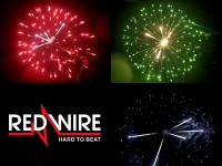 Red Wire 4 inch fireworks shells with 3 different peony effects. Available at Xena Vuurwerk BV - Holland - xenavuurwerk.com