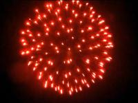 5 inch shell red to dark to red peony. Professional RedWire fireworks, distributed by Xena Vuurwerk BV - Holland