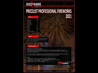 Pyrotechnic companies can request for a current price list of all professional firework products of Xena Vuurwerk