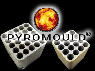 Pyromould fireworks batteries of RedWire fireworks, stands for better quality and are made of fire resistant material. Available at Xena Vuurwerk - Holland