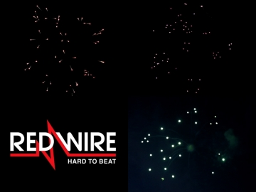 Red Wire firewprks fireworks shells 4 inch with different crossette effects. Available at Xena Vuurwerk BV - xenavuurwerk.com