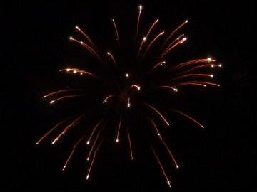 6 inch shell silver strobe willow. Professional RedWire fireworks, distributed by Xena Vuurwerk BV - Holland