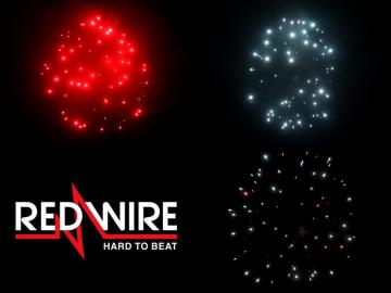 6 inch shell assortment with 3 different glitter effects. Professional RedWire fireworks, distributed by Xena Vuurwerk BV - Holland