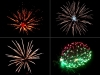 Assortment of 4 inch shells of Red Wire professional fireworks, supplied and distributed by Xena Vuurwerk BV from Holland