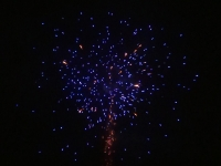 Blue Diamond - Red Wire Fireworks 48mm / 36 shots - Blue mine w/blue peony