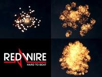 Red Wire 3 inch shells assortment with 3 different crackling effects. Available at Xena Vuurwerk BV in Holland