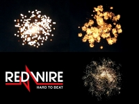 Red Wire 4 inch shells assortment with different crackling effects. Available at Xena Vuurwerk BV - Holland - xenavuurwerk.com