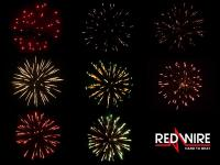 2,5 inch shells assortment with 8 different effects. Professional RedWire fireworks, distributed by Xena Vuurwerk BV - Holland