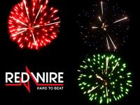 3 inch shells assortment with 3 different peony effects. Professional RedWire fireworks, distributed by Xena Vuurwerk BV - Holland