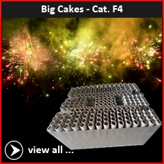 Big category F4 professional fireworks cakes and flowerbeds of RedWire Fireworks