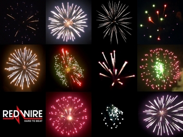 Assortment of 72 fireworks shells with 11 different effects. Available at Xena Vuurwerk BV - Holland - xenavuurwerk.com