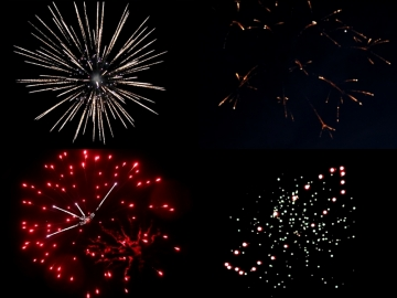 Red Wire 4 inch shells assortment with 4 different effects. Available at Xena Vuurwerk BV - professional fireworks supplier - Holland - xenavuurwerk.com